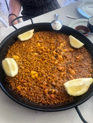 A typical Paella - it is served with aioli